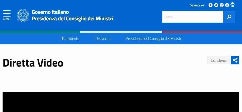 Sito del Governo italiano