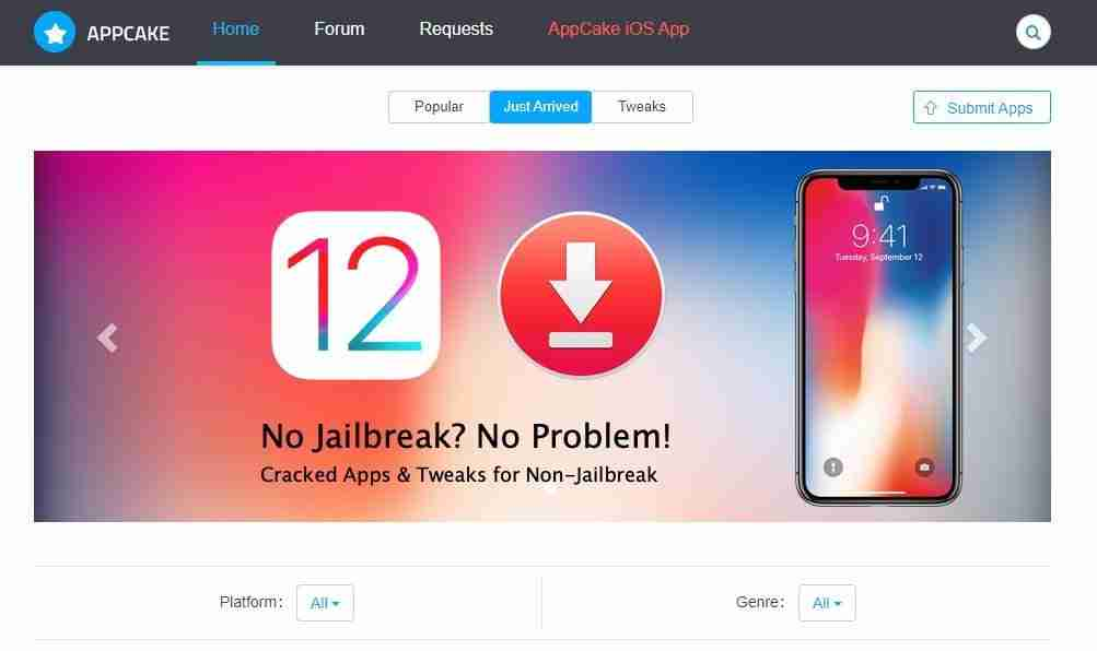 AppCake come scaricare e usare su iOS