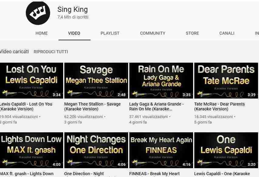 Sing King - musica per karaoke