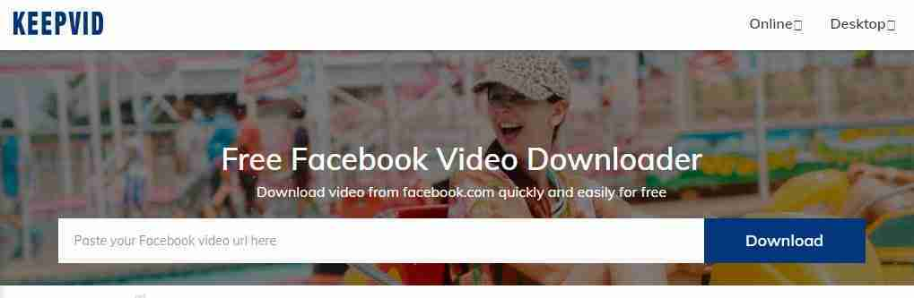 KeepVid download video per Facebook