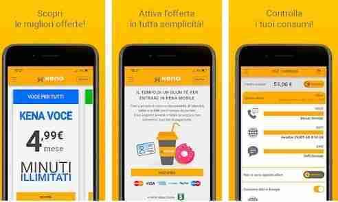 Come ricaricare Kena Mobile online da smartphone