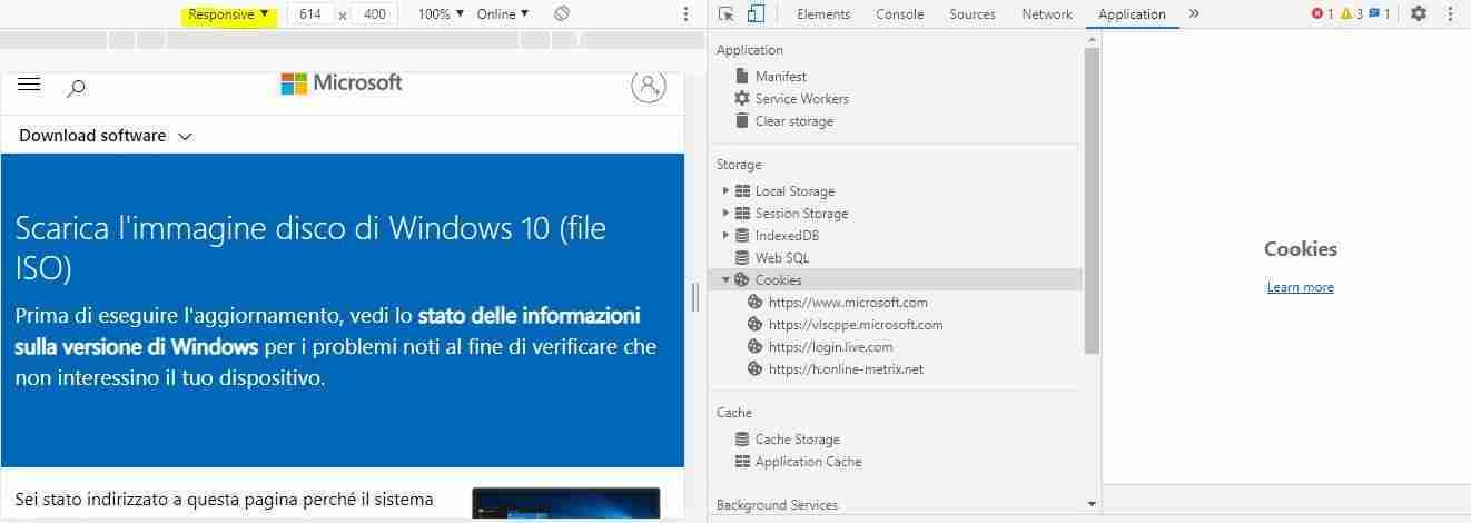 Download Windows 10 da sito Microsoft
