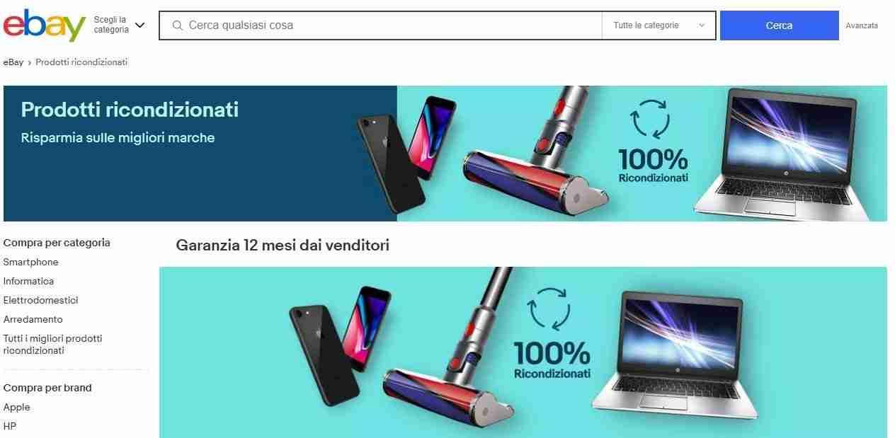 Ebay - iPhone ricondizionati