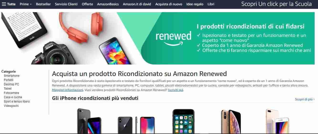 Amazon - iPhone ricondizionati
