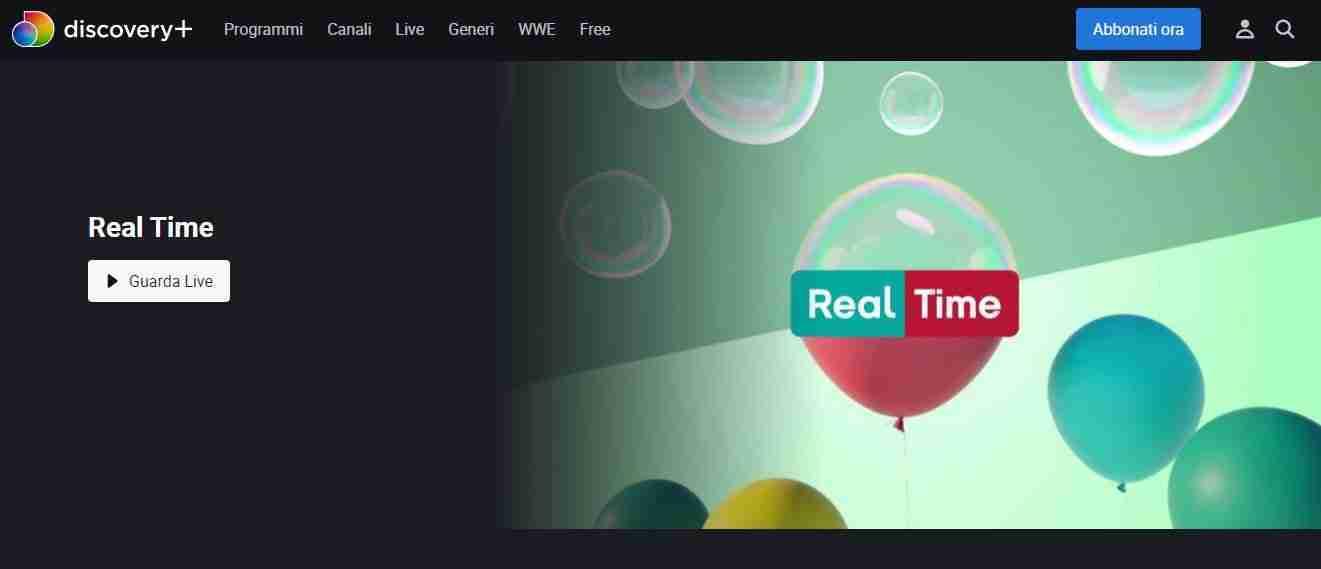 Come vedere Real Time su Internet